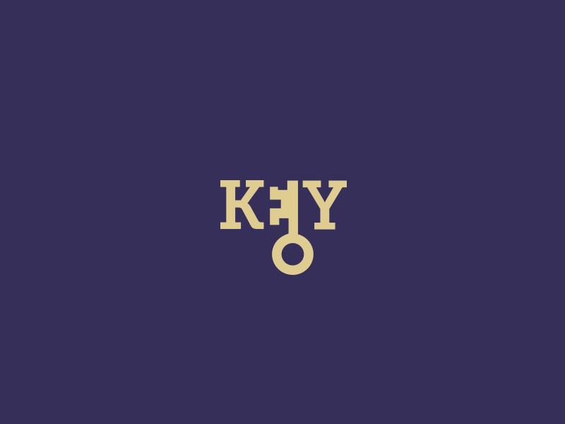 Key key keys negative space logotype logo design icon concept flat minimal simple vector