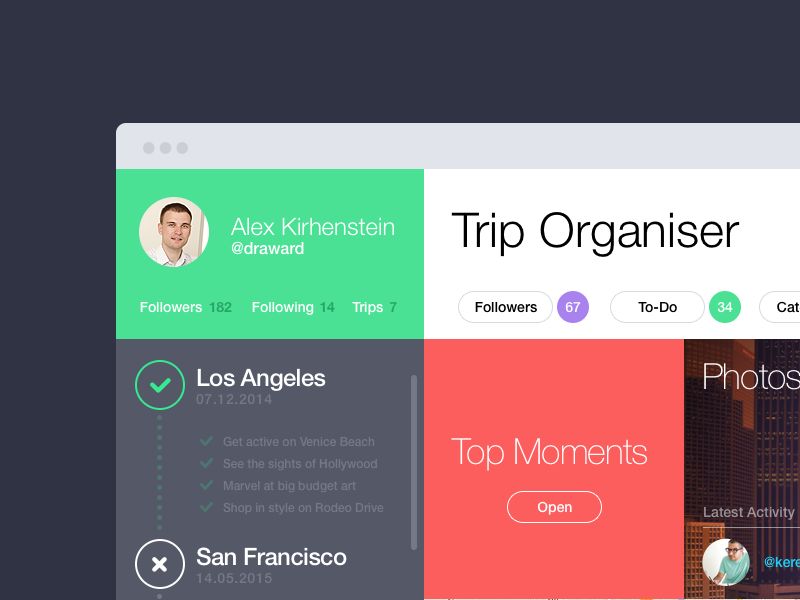 Trip Organiser By Alex Kirhenstein Draward Dribbble