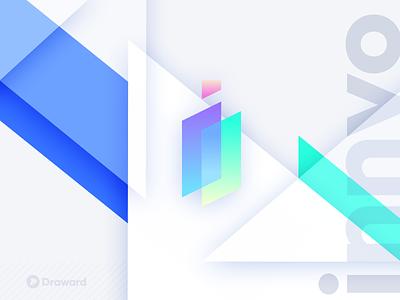 Innvo tech technology solutions app logo design logo branding icon design gradient mark