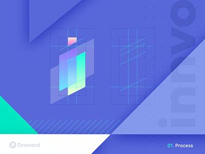 Innvo mark gradient design icon branding logo logo design app solutions technology tech