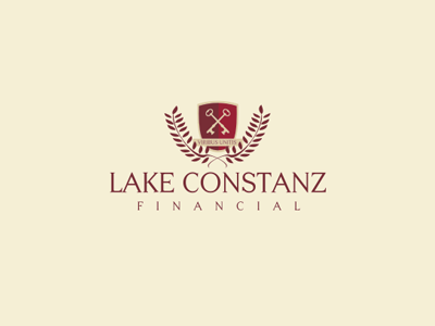 Lake Constanz Financial logo logo design logo design brand crest identity id financial keys icon icons logo designer logodesign graphic design graphic draward shield