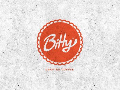 Bitty logo round circular logo design icon draward coffee type identity typeface font