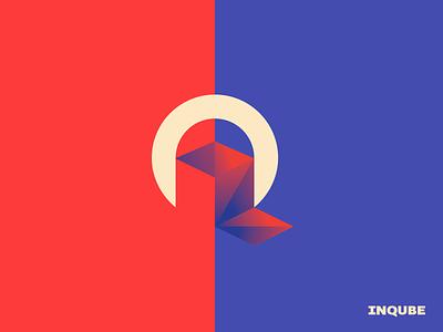 Inqube technology app branding icon design logo design identity mark logo