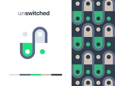 Unswitched Logo ios branding logo design technology app identity mark flat icon design logo