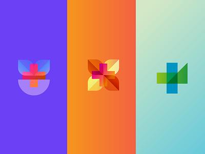Medical medical minimal branding app logo design gradient identity icon flat design logo