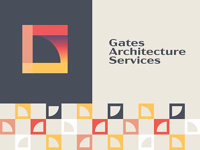 Gates Architecture plan house minimal logo design identity mark flat icon design logo