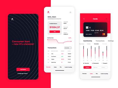 Financial Mobile App investment services financial e-finance budget banking bank management account ux ui payment money ios fintech finance app design app dashboard analytics