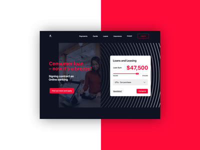 Financial Landing Page Interaction