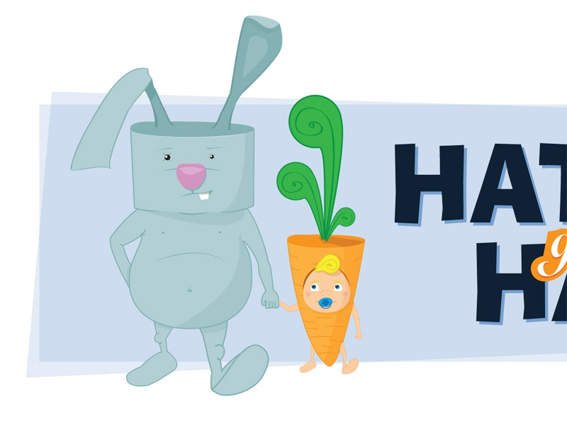Bunny graphic design ilustration t-shirt bunny rabbit carrot child funny illustration