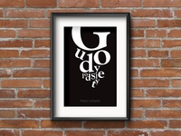 Goudy old style poster