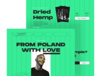Weedmore layout branding web typography cbd love hemp black stripes brutalism uiux ui product green weed