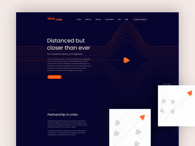 IT Consultancy Landing Page advice help typogaphy partnership dark consultancy desktop lines flight landing page orange uxui ux