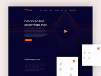 IT Consultancy Landing Page advice help typogaphy partnership dark consultancy desktop lines flight landing page orange uxui ux