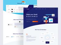 Accesto website blue development saas website webdesign homepage uidesign ui vector typography web