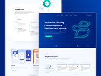 Software House mainpage layout mobile blue vector landing page mainpage dark green software house neon typography ui ux