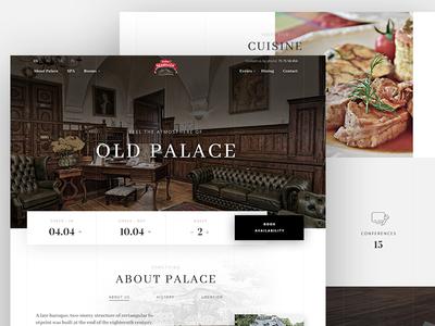 Staniszow Palace room hotel photography ui web ux design web design