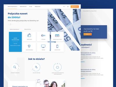 Financial company ui money loans financial main page ux layout web design design