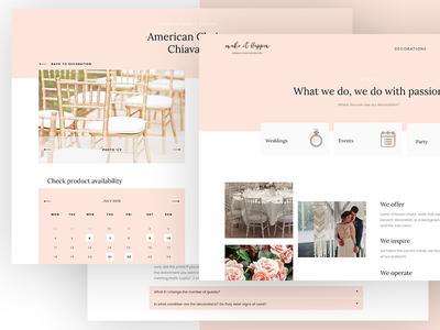 Wedding rental of decorations_part2 wedding web ux pink layout flowers design