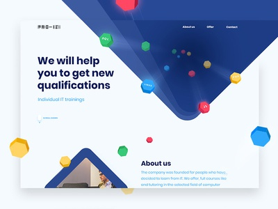 Individual IT trainings ui ux yellow red green blue qualifications cube trainings web