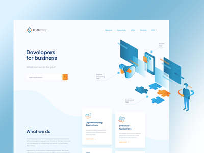 Software House outsourcing mobile product business developer software blue ui ux