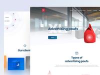 Advertising poufs landing page