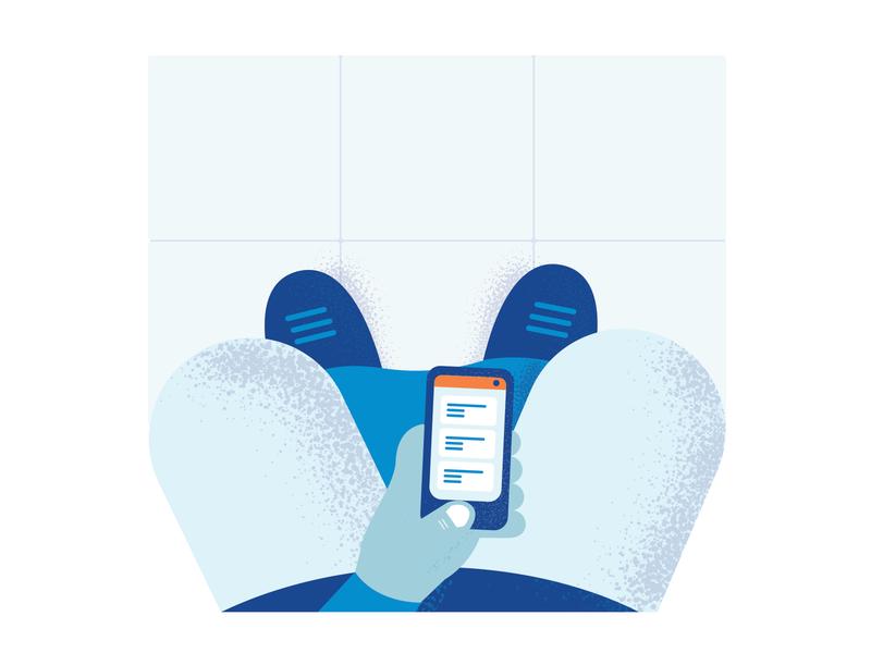 WC Break pants toilet blue phone illustration illustrator
