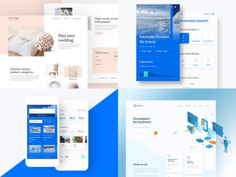 2018 Top Shots top wedding landing page app mobile typography webdesign layout ui ux design