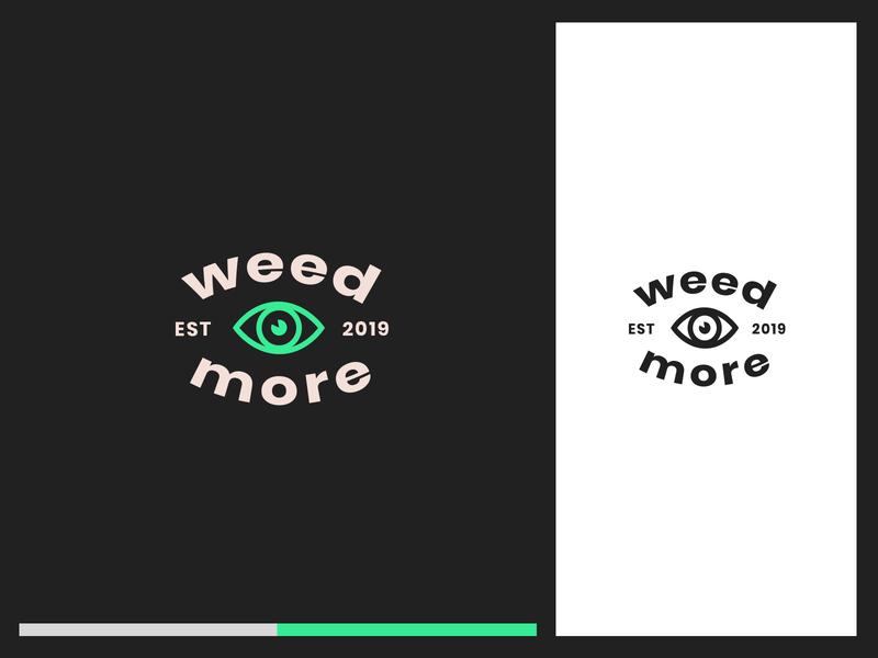 weedmore logo grass eye weed green dark illustration vector logo branding