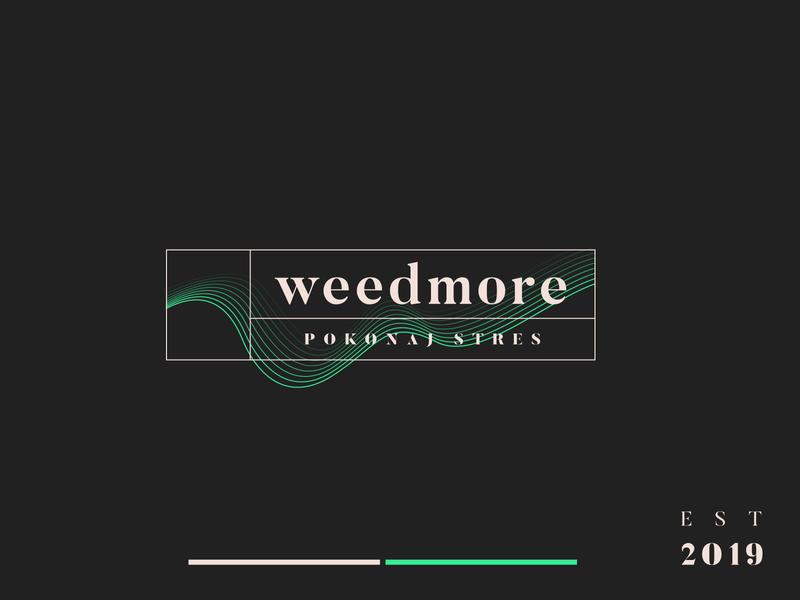 weedmore logo_v2 dark green grasshopper herbs grass weed illustration vector logo branding