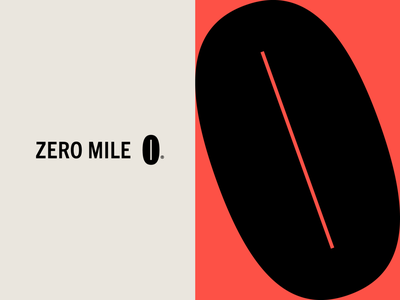 Zero Mile Process branding wordmark bean mark symbol logotype atl georgia atlanta zero mile mile zero coffee lockup identity logo