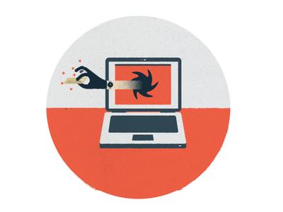 Take Yer'Money saturday news nyt illustration texture theft credit card laptop