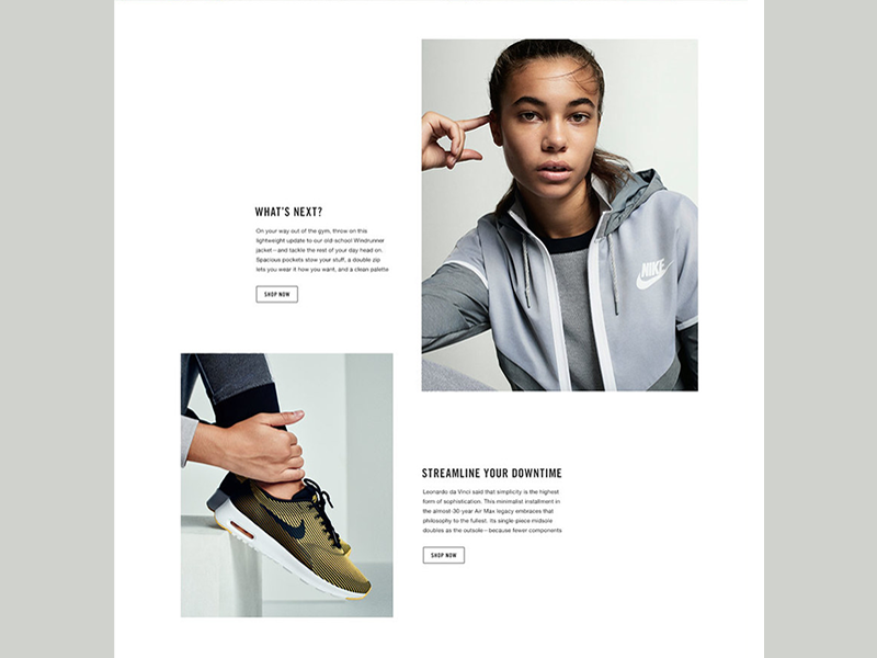 NikeWomen's Digital Style Guide product web layout brand style guide nike
