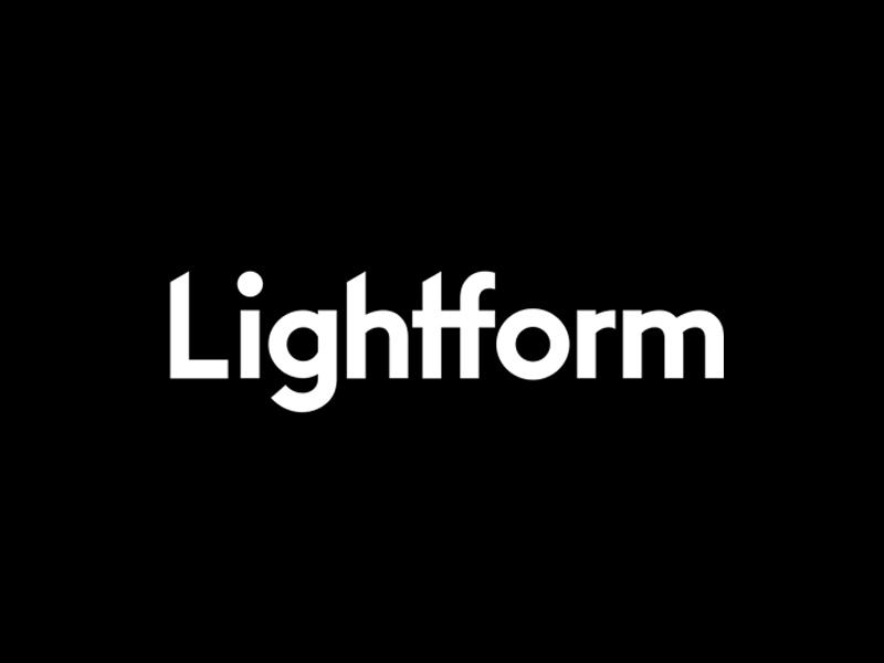 Logotype Exploration startup unused lightform custom identity wordmark logotype