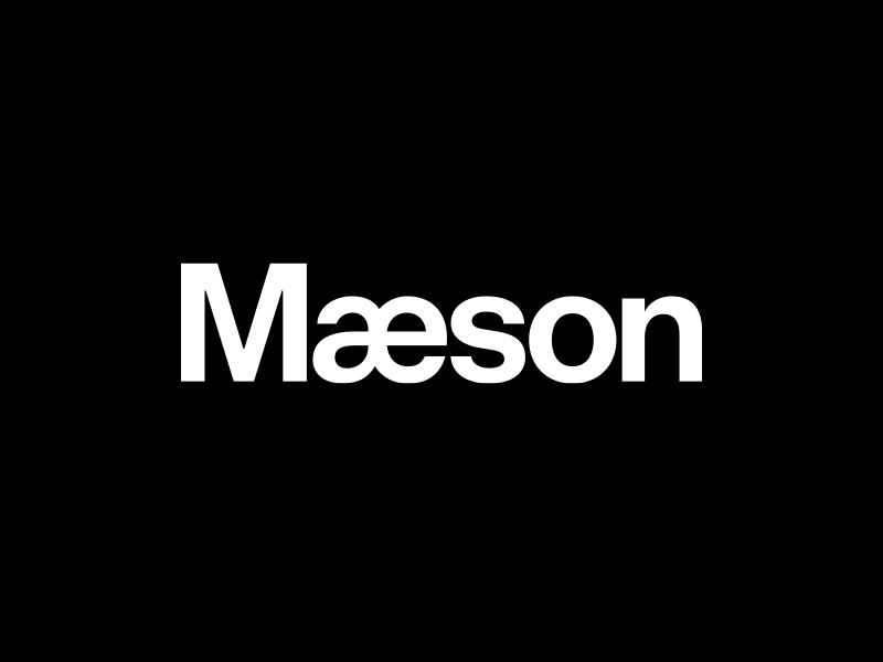 Mæson logo identity wordmark