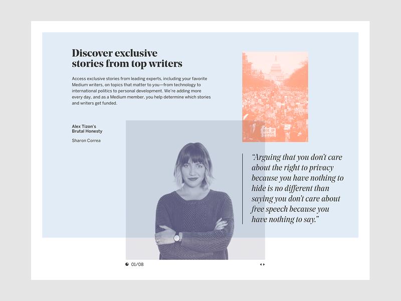 Medium 17' branding identity design typography editorial ui exploration layout medium