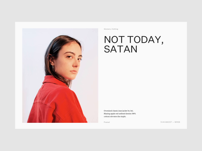 Not today, Satan! design tiempos klim untitled product photography layout ui website site