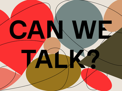 Can We Talk? cover book forma nuova illustration art cover collection medium