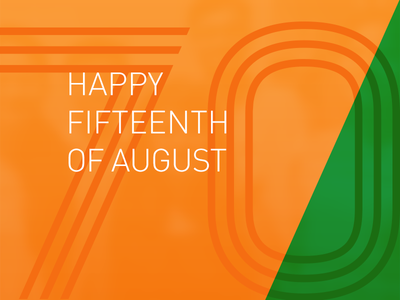Happy 70th Independence Day India minimal august 15 heritage graphic font typography tricolor flag indian independence india