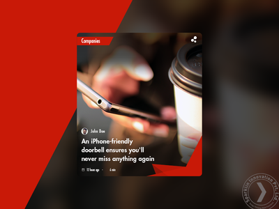 Card style for content platform