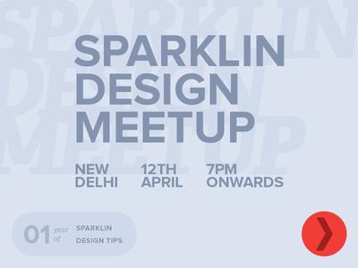 Sparklin Design Meetup Delhi - Apr 2019