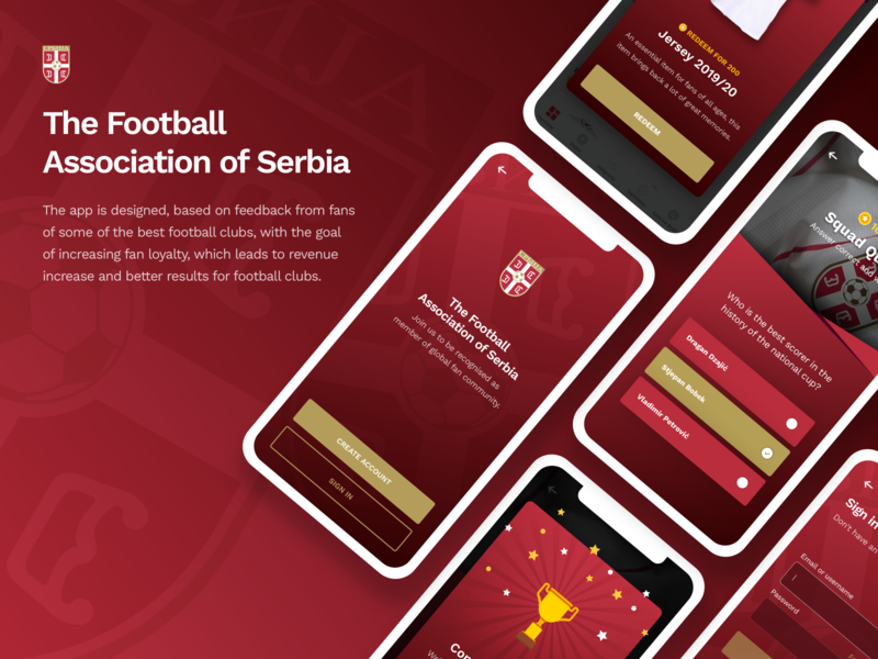 FSS - The Football Association of Serbia welcome screen reward football soccer soccer app