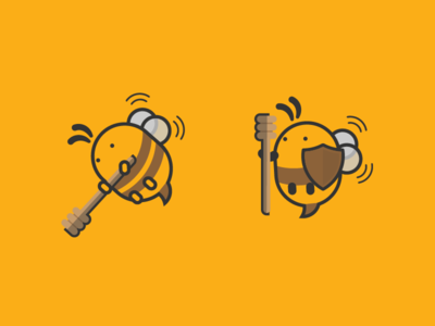 Bees ideas illustration game bee