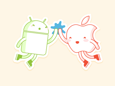 🎶 Why Can't We Be Friends? 🎵 sticker high-five apple android crossplatform
