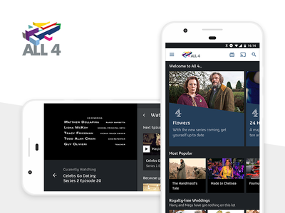 All4 for Android tv mobile app android