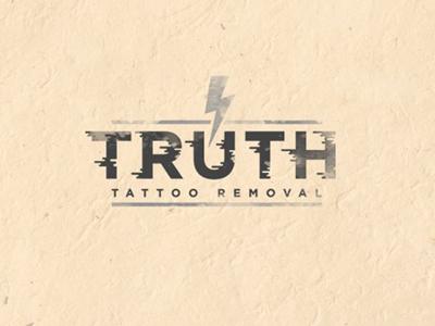 Truth Tattoo Removal tattoo typography branding lighting bolt type