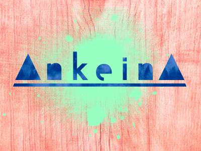 Ankeina  spray trippy typography type branding identity