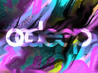 OCDeep  deep house trippy acid typography identity paint