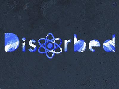 Disorbed orb type typography branding logo