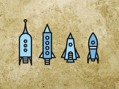 Space Icons icons design iconography illustration