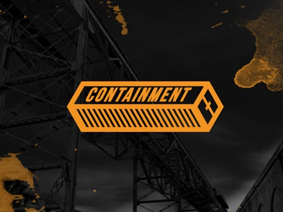 Containment  logo typography icon container industrial techno